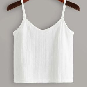 White ribbed Cami Top